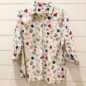 TALBOTS Paris Shopping Blouse